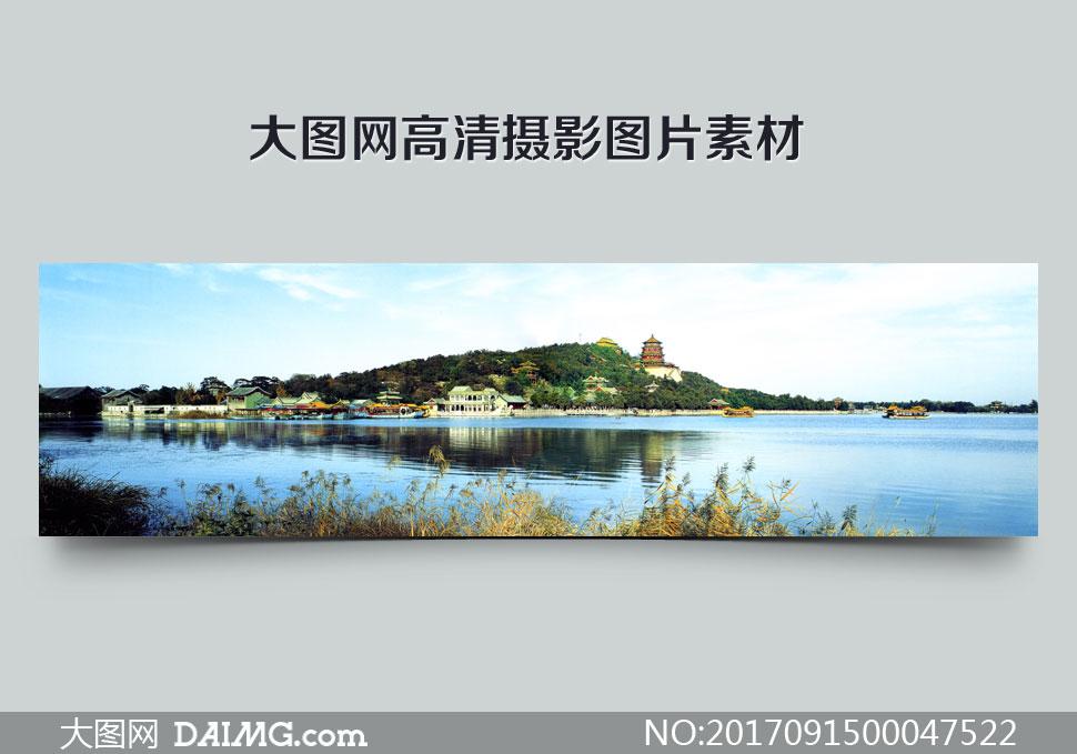 北京颐和园美丽全景摄影图片