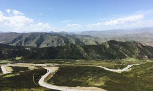 青海门源高原美丽风景摄影图片
