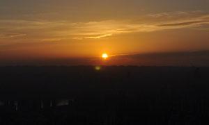 美丽的夕阳景色摄影图片