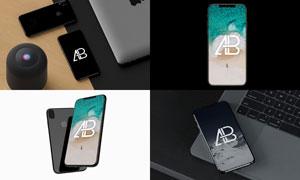 iPhoneX屏幕展示智能贴图效果模板
