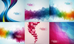 五颜六色抽象元素背景创意矢量素材