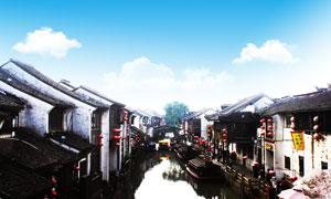 苏州七里山塘美丽古镇摄影图片