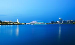 五缘湾大桥美丽夜景摄影图片