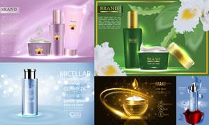 光效元素护肤用品广告设计矢量素材