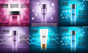 梦幻光斑元素护肤用品广告矢量素材