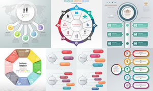 炫彩环形等信息图创意设计矢量素材