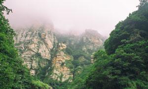 庐山山间美丽的云雾摄影图片