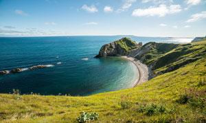 美丽的海岸线景观摄影图片