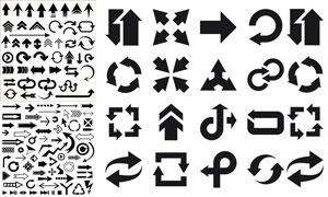 形态不一的各种箭头主题矢量图V01