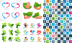 多种多样的手势等元素标志矢量素材