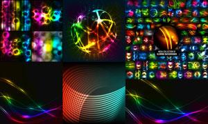 五颜六色缤纷炫彩光效元素矢量素材