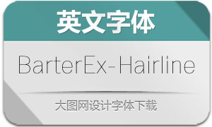 BarterExchange-Hairline(英文字体)