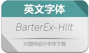BarterExchange-HairlineIt(字体)