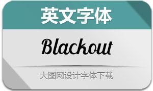 Blackout系列三款英文字体