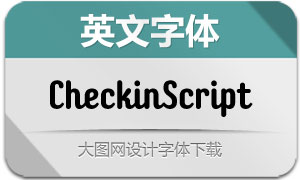 CheckinScript系列20款英文字体