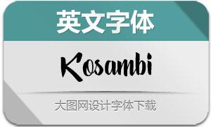 Kosambi-Script(英文字体)