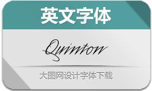 Quinton-Script(英文字体)