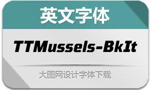 TTMussels-BlackItalic(英文字体)