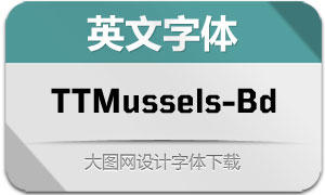 TTMussels-Bold(英文字体)