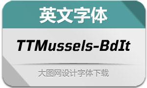 TTMussels-BoldItalic(英文字体)
