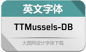 TTMussels-DemiBold(英文字体)