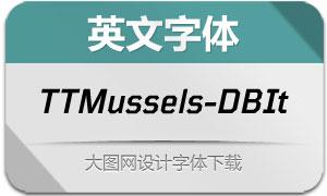TTMussels-DemiBoldIt(英文字体)