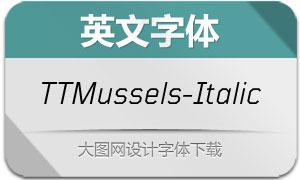 TTMussels-Italic(英文字体)