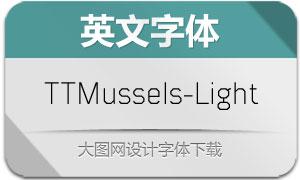 TTMussels-Light(英文字体)