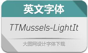 TTMussels-LightItalic(英文字体)