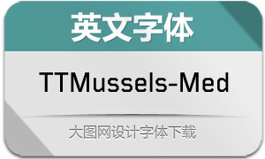TTMussels-Medium(英文字体)