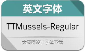TTMussels-Regular(英文字体)