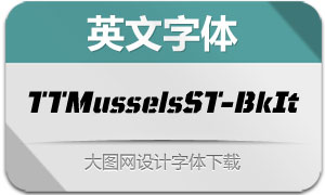 TTMusselsStencil-BlackIt(字体)