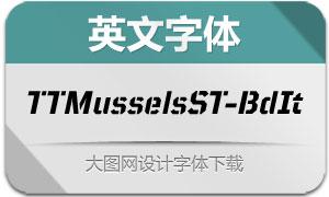 TTMusselsStencil-BoldIt(字体)