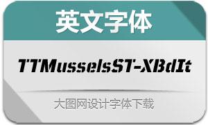 TTMusselsStencil-ExtBdIt(英文字体)