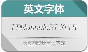TTMusselsStencil-ExLtIt(英文字体)