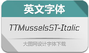 TTMusselsStencil-Italic(英文字体)