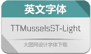 TTMusselsStencil-Light(英文字体)