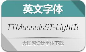 TTMusselsStencil-LightIt(英文字体)