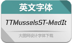 TTMusselsStencil-MedIt(英文字体)