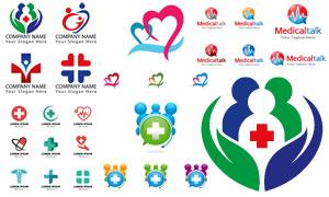医疗卫生主题标志矢量素材集合V04