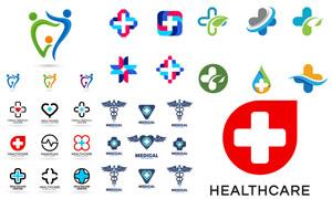 医疗卫生主题标志矢量素材集合V05