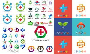 医疗卫生主题标志矢量素材集合V06