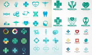 医疗卫生主题标志矢量素材集合V09