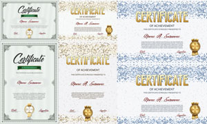 多种多样的授权书与证书等素材V78