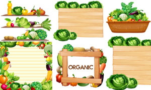 食用油与逼真效果蔬菜水果矢量素材