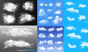 多款逼真效果云朵元素矢量素材V02