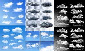 多款逼真效果云朵元素矢量素材V03