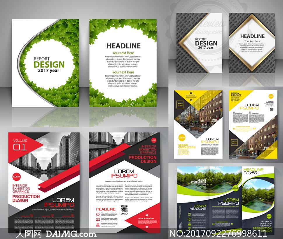 欧美画册封面版式设计矢量素材v02