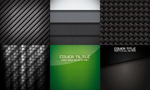 逼真质感效果的碳纤维背景矢量素材