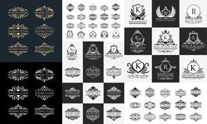 标志设计适用装饰花纹图案矢量素材